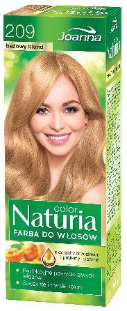 Joanna Naturia Color Farba do włosów nr 209-beżowy blond 150 g 1