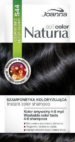 Joanna Naturia Soft Color Szampon koloryzujący S44 Czarny Bez 1