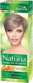 Joanna Color Naturia, Farba do włosów trwale koloryzująca, 214 gołębi popiel 150 g 1