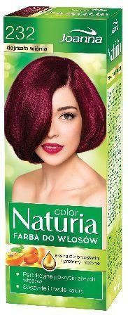 Joanna Naturia Color Farba do włosów nr 232-dojrzała wiśnia 150 g 1