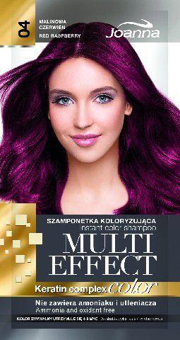 Joanna Multi Effect Color Keratin Complex Szamponetka 04 Malinowa Czerwień 35 g 1