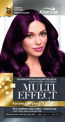 Joanna Multi Effect Color Keratin Complex Szamponetka 07 Głęboki Burgund 35 g 1