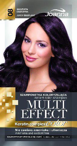 Joanna Multi Effect Color Keratin Complex Szamponetka 08 Soczysta Oberżyna 35 g 1