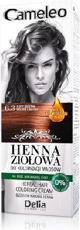 Delia Cosmetics Cameleo Henna Ziołowa nr 6.3 złoty kasztan 75 g 1