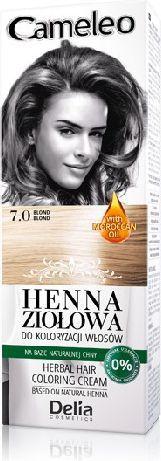 Delia Cosmetics Cameleo Henna Ziołowa nr 7.0 blond 75 g 1