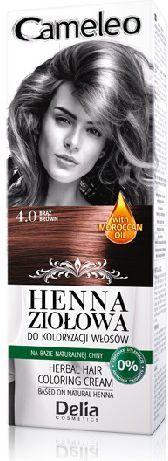 Delia Cosmetics Cameleo Henna Ziołowa nr 4.0 brąz 75 g 1