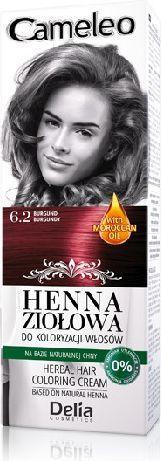 Delia Cosmetics Cameleo Henna Ziołowa nr 6.2 burgund 75 g 1