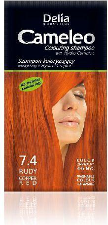 Delia Cosmetics Cameleo Szampon koloryzujący 7.4 Rudy 1