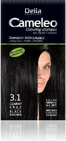 Delia Cosmetics Cameleo Szampon koloryzujący 3.1 czarny brąz 1