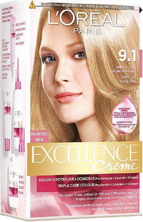 L'Oreal Paris Excellence Creme Krem koloryzujący 9.1 bardzo jasny blond popielaty 1
