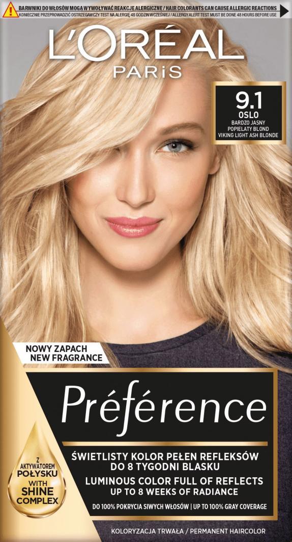 L'Oreal Paris Farba Recital Preference Z Bardzo Jasny Blond Popielaty 1