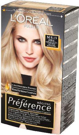 L'Oreal Paris Farba Recital Preference M Bardzo Jasny Popielato Złocisty Blond 1