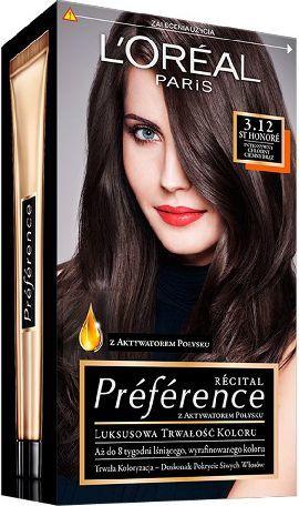 L'Oreal Paris Farba Recital Preference 3.12 Honore-Intensywny Chłodny Ciemny Brąz 1