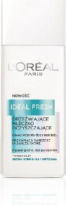 L'Oreal Paris Ideal Fresh Mleczko oczyszczające do twarzy i oczu do skóry normalnej i mieszanej 200 ml 1