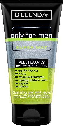 Bielenda only for men SUPER MAT Peelingujący żel oczyszczający 150ml 1