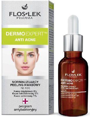 FLOSLEK Pharma Dermo Expert Anti Acne Peeling kwasowy normalizujący na noc 30ml 1