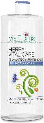 Vis Plantis Herbal Vital Care Żel Micelarny 3w1 bławatek + pantenol 500ml - 815013 1