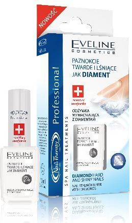 Eveline Nail Therapy Lakier odżywka diamentowa 12ml 1