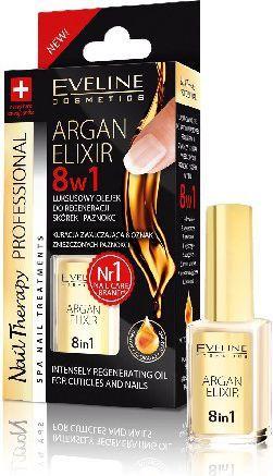 Eveline Nail Therapy Olejek arganowy 8w1 do skórek i paznokci 12ml 1