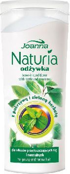 Joanna Naturia mini Odżywka do włosów pokrzywa i zielona herbata 100 g 1