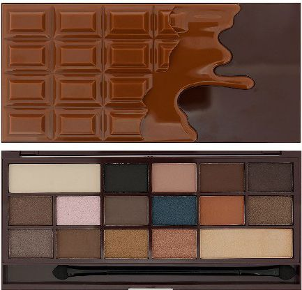 Makeup Revolution I Heart Make Up Palette Zestaw cieni do powiek Chocolate Salted Caramel (16 kolorów) 22g 1