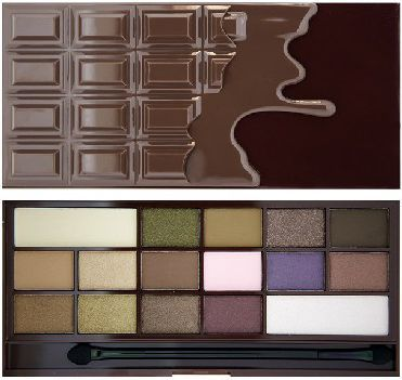 Makeup Revolution I Heart Make Up Palette Zestaw cieni do powiek I Heart Chocolate (16 kolorów) 22g 1