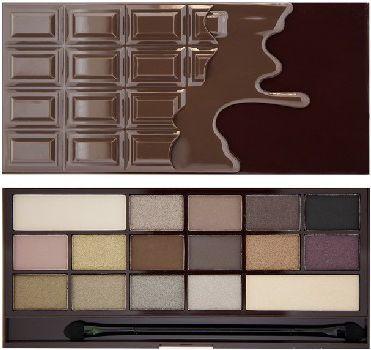 Makeup Revolution I Heart Make Up Palette Zestaw cieni do powiek Death by Chocolate (16 kolorów) 22g 1