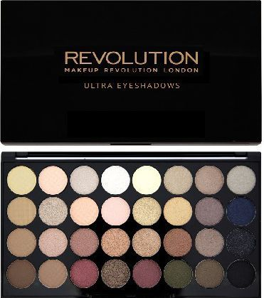 Makeup Revolution Ultra Palette 32 Zestaw cieni do powiek Flawless (32 kolory) 16g 1