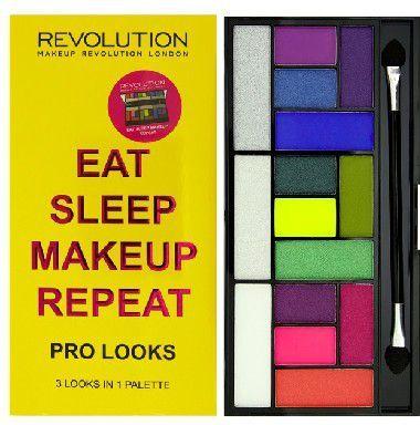 Makeup Revolution Pro Looks Palette 15 Zestaw cieni do powiek Eat Sleep Makeup Repeat (15 kolorów) 13g 1