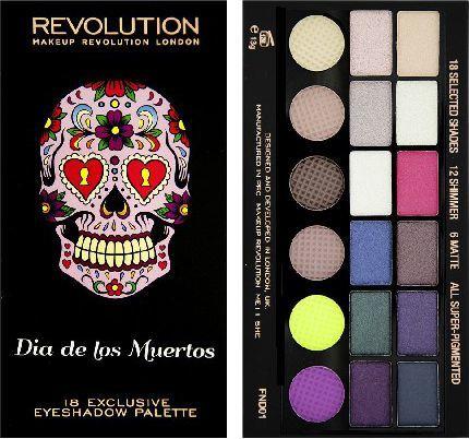 Makeup Revolution Salvation Palette 18 Zestaw cieni do powiek Dia de los Muertos (18 kolorów) 13g 1