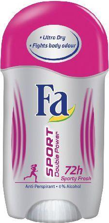 Fa Sport Double Power Sporty Fresh Dezodorant w sztyfcie 50ml 1