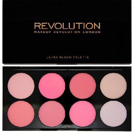 Makeup Revolution Ultra Blush Palette 8 Zestaw róży do policzków All About Pink 13g 1