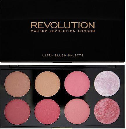 Makeup Revolution Ultra Blush Palette 8 Zestaw róży do policzków Sugar and Spice 13g 1