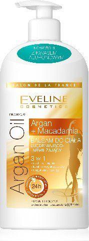 Eveline Eveline Salon De La France Balsam do ciała ujędrniająco-nawilżający 3w1 Argan Oil & Macadamia 350ml 1