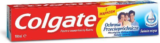 Colgate Pasta Ochrona Przeciwpróchnicza z fluorem i wapniem 100 ml 1