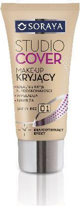 Soraya Studio Cover Make-up kryjący 01 jasny beż 30ml 1