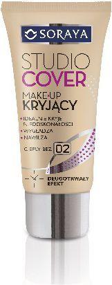 Soraya Studio Cover Make-up kryjący 02 ciepły beż 30ml 1