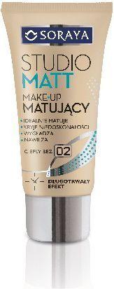 Soraya Studio Matt Make-up matujący 02 ciepły beż 30ml 1