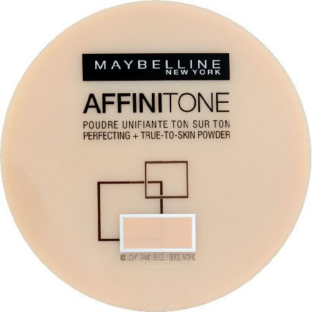 Maybelline  Affinitone Puder w kamieniu nr 03 light sand beige 9g 1
