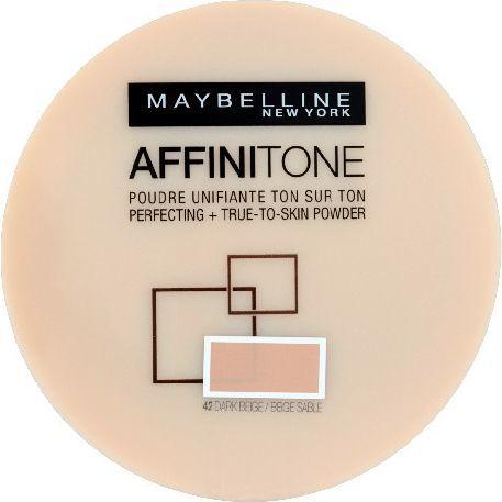 Maybelline  Affinitone Puder w kamieniu nr 42 dark beige 9g 1