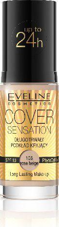 Eveline Podkład Cover Sensation kryjący nr 105 Rose Beige 30ml 1