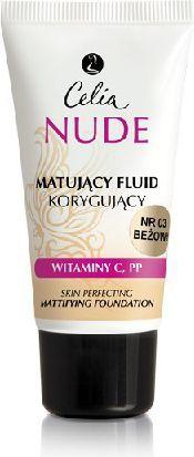 Celia Nude Make- Up fluid matujaco-korygujący 03 beż 30 ml 1