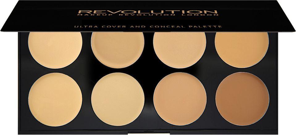 Makeup Revolution Ultra Cover and Concealer Palette Korektory Light-Medium 10g 1