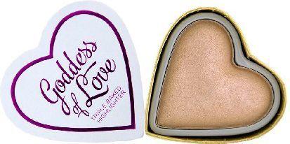 Makeup Revolution I Heart Make Up Blushing Hearts Rozświetlacz do twarzy Goddess of Faith 10g 1