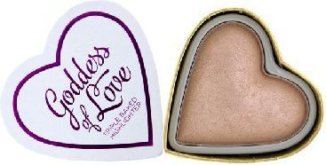 Makeup Revolution I Heart Make Up Blushing Hearts Rozświetlacz do twarzy Goddess of Love 10g 1