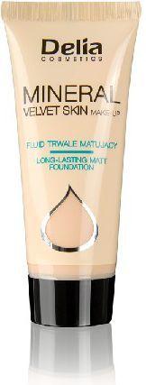 Delia Cosmetics Mineral Velvet Skin Mineralny fluid trwale matujący nr 34 1