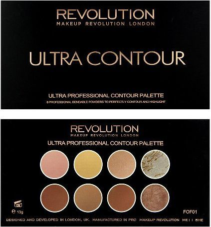 Makeup Revolution Ultra Contour Palette Zestaw do modelowania twarzy 13g 1