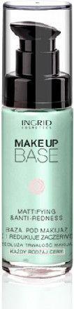 INGRID Make Up Base Baza pod makijaż matująca i redukująca zaczerwienienia 30ml 1