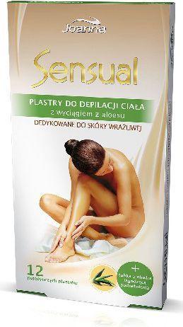 Joanna Sensual Plastry do depilacji ciała Aloes 1op. 12szt. 1