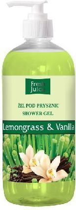 Fresh Juice Żel pod prysznic Trawa Cytrynowa i Wanilia 500ml 1